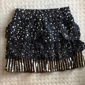 ALICE AND OLIVIA sequins mini skirt small